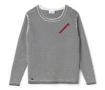 Damen-Bluse mit Reißverschluss in nautischem Stil MADE IN FRANCE