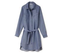 Damen-Pullover-Kleid in Denim-Optik mit Gürtel