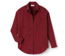 Damen-Bluse aus karierter Baumwoll-Popeline