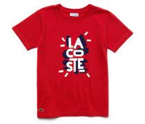 Kinder-Rundhals-T-Shirt aus Jersey mit Fair-Play-Design