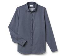 SlimFit Herren-Hemd aus bedruckter Baumwollpopeline