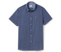 Kurzärmliges SlimFit Herren-Hemd aus karierter Baumwolle