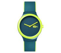 Blau-graue und gelbe Uhr Goa New