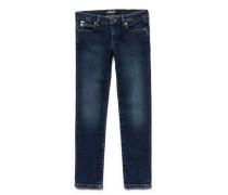 Mädchen-Jeans aus blauem Baumwoll-Denim mit Stretch