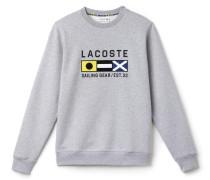 Herren-Fleece-Sweatshirt mit Flaggen-Stickerei