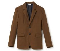Regular Fit Herren-Jacke aus Baumwoll-Gabardine