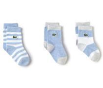 Gemusterte Kinder-Socken im 3er-Pack
