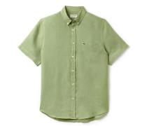 Kurzärmliges Regular Fit Hemd aus Leinen