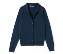 Damen-Strickjacke aus Wolle mit Polo-Kragen Runway collection