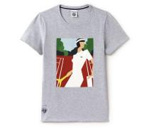 Damen-T-Shirt mit Spieler-Aufdruck FRENCH OPEN Kollektion
