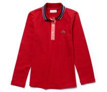 LACOSTE Mädchen-Poloshirt aus Jersey mit Kontraststreifen