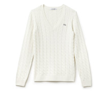 Pullover aus Baumwolle mit Zopfmuster