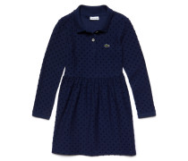 Mädchen-Polo-Kleid aus Jersey mit Plumetis
