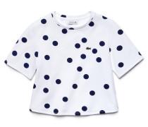 Kinder-T-Shirt aus Baumwollfleece mit Punktmuster