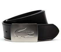 Herren Gürtel aus weichem Leder, hervorstehende Krokodilschnalle