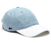 Herren-Kappe aus Jeansstoff mit Kontrastschirm