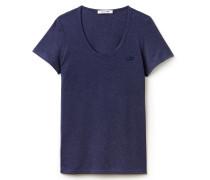 Damen-Shirt aus fließender Jersey-Mischung mit weitem Ausschnitt