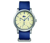 Uhr mit Multifunktions-Pergament-Zifferblatt und Nylonarmband Metro