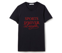 Damen-T-Shirt aus fließendem Material mit Rundhalsausschnitt SPORTS D'HIVER