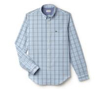 Regular Fit Herren-Hemd aus bunt karierter Popeline
