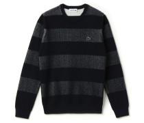 Herren-Häkel-Pullover aus Baumwoll-Woll-Mischung