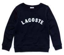 Kinder-Rundhals-Sweatshirt aus Baumwollfleece mit Lacoste-Schriftzug