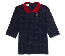 LACOSTE Mädchen-Poloshirt aus bedrucktem Petit Piqué