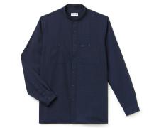 Regular Fit Herren-Hemd aus Baumwoll-Popeline mit Hahnentritt