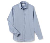 SlimFit Herren-Hemd aus sehr fein karierter, dehnbarer Popeline