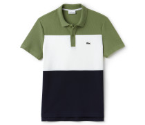 Regular Fit Herren-Polo aus Piqué im Colorblock-Design