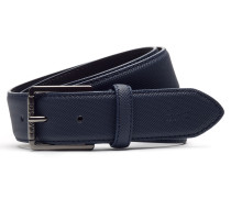 Men's Classic-Ledergürtel mit Petit-Piqué-Muster