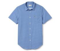 Slim Fit Herren-Hemd aus bedruckter Popeline
