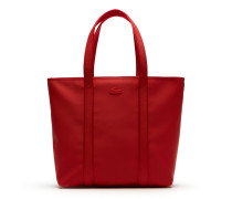 Damen Classic Einfarbige Tote Bag mit Reißverschluss