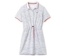Damen-Tennis-Kleid aus bedrucktem Piqué mit Gürtel LACOSTESPORT