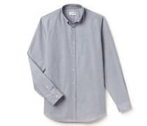 Regular Fit Hemd aus Fil-à-Fil-Baumwolle