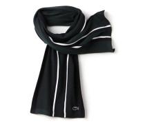 Herren-Schal aus Piqué mit horizontalen Streifen