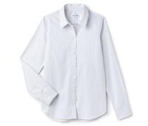 Regular Fit Damen-Bluse aus gestreifter Popeline