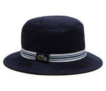 Hut aus Baumwoll-Gabardine mit gestreiftem Band