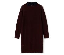 Damen-Sweatshirt-Kleid aus gerippter Wolle mit Reißverschluss