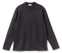 Langer Herren-Pullover aus einfarbigem Wollfilz