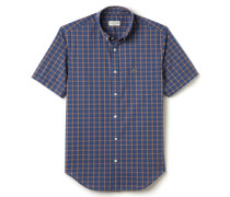 Herren-Hemd aus kariertem Baumwollgewebe