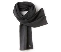 Herren-Schal aus gerippter moulinierter Wolle