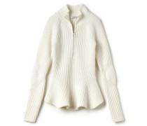 Damen-Rollkragenpullover aus Wolle mit Schößchen Runway collection