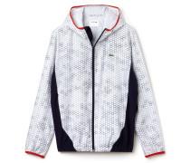 Herren-Tennis-Jacke aus dehnbarem bedrucktem Taft LACOSTESPORT