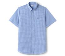 Klassisch geschnittenes Hemd aus Popeline mit Vichy-Karomuster