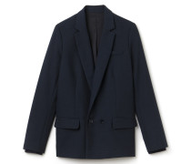 Zweireihige Damen-Jacke aus Baumwoll-Woll-Mischung