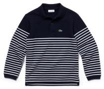 Jungen-Poloshirt aus gestreiftem aufgerautem Baumwoll-Piqué