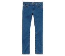 Mädchen-Hose aus Stretch-Denim mit fünf Taschen