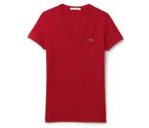 T-Shirt aus weichem Jersey mit V-Ausschnitt