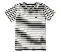 Kinder-T-Shirt aus gestreiftem Jersey mit V-Ausschnitt